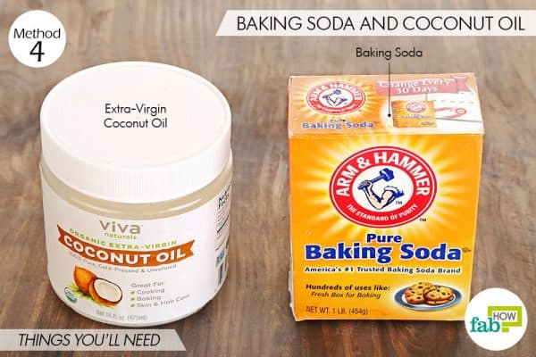 Things you'll need to use coconut oil and baking soda for acne