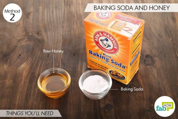 Things you'll need to use honey and baking soda for acne