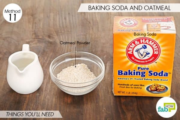 Things you'll need to use oatmeal powder and baking soda for acne