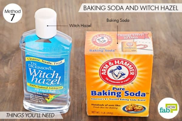 Things you'll need to use witch hazel and baking soda for acne