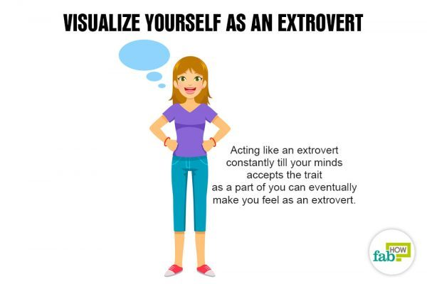 Visualize yourself as an extrovert to transform yourself from an introvert to an extrovert