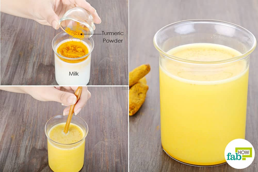 Drink turmeric for folliculitis by mixing it in milk