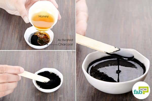 Mix activated charcoal with honey to use activated charcoal for beauty