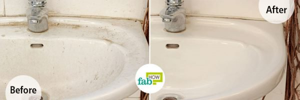 Use borax for cleaning your white sink