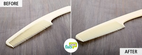 Use borax for cleaning your brushes and combs