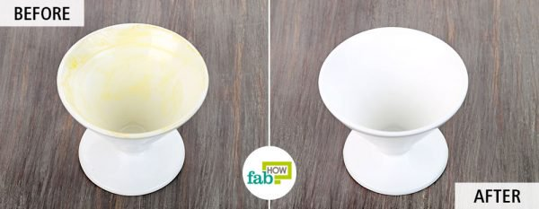 Use borax for cleaning delicate dishware