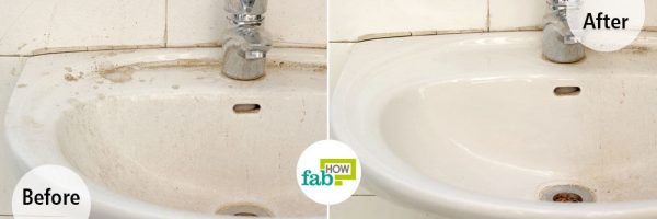 Use borax for cleaning a white sink