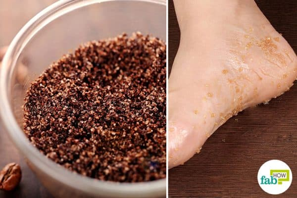 Make DIY homemade foot scrub with coffee