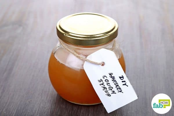 Make homemade cough syrup with whiskey