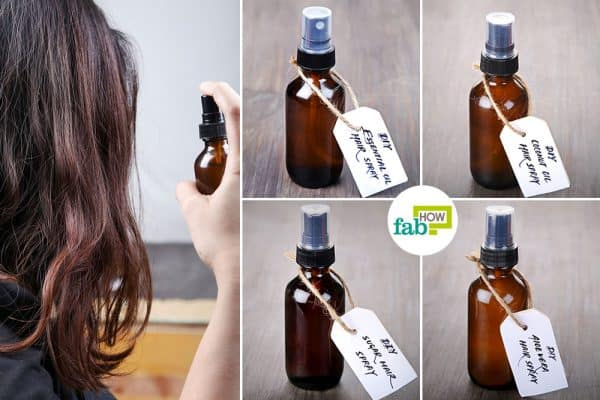 Learn how to make DIY hairspray that is most suited to your hair