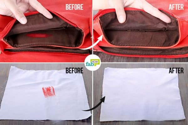 Learn how to remove lipstick stains from different fabrics