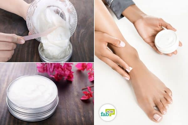 Make and use DIY foot cream