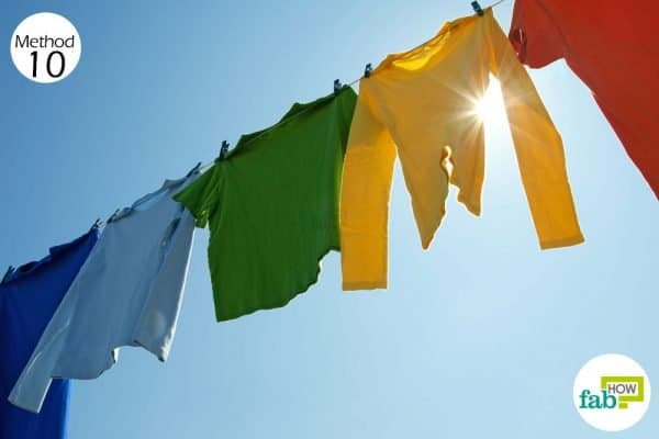Dry your clothes in the sunlight to get rid of musty smell from clothes