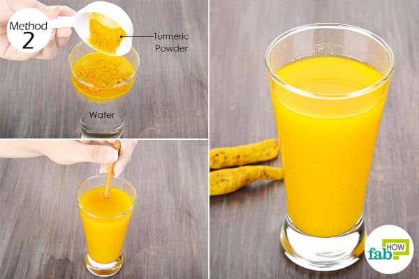 Drink turmeric for folliculitis