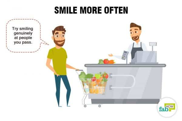 Smile more often to be more social