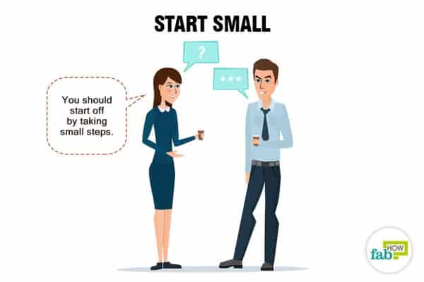 Start small to be more social