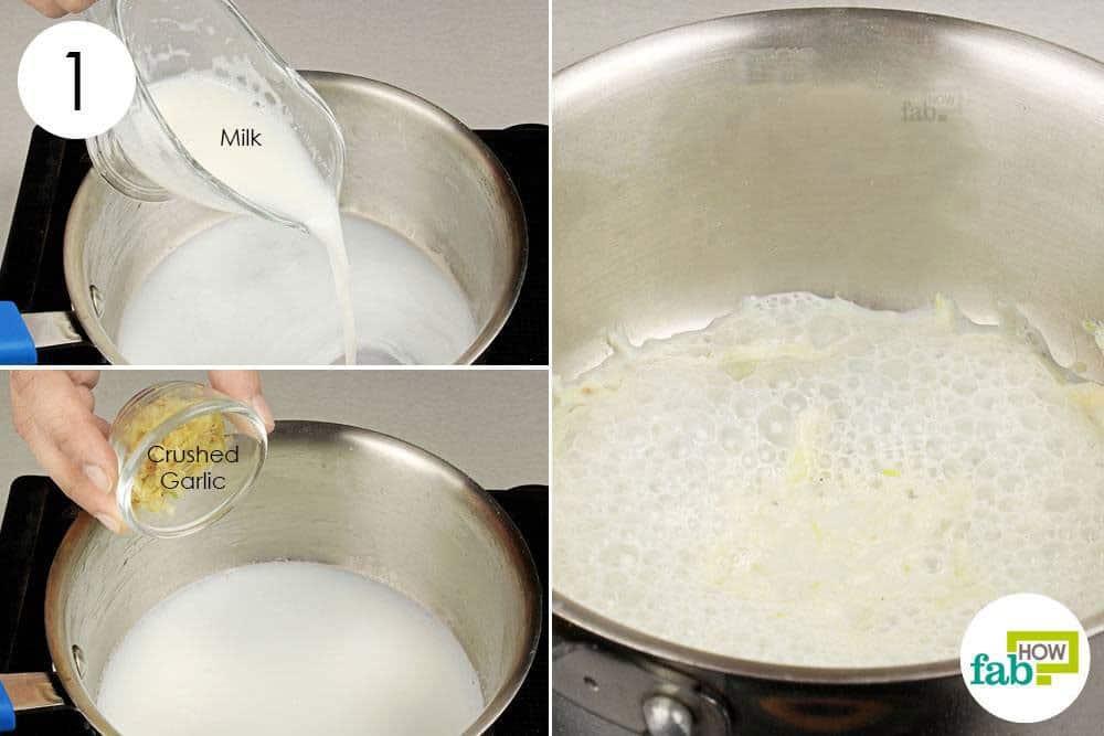 Boil crushed garlic in milk to use garlic for health-asthma