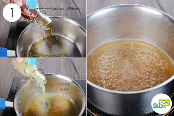 Boil bourbon whisky and lemon juice together together to make homemade cough syrup