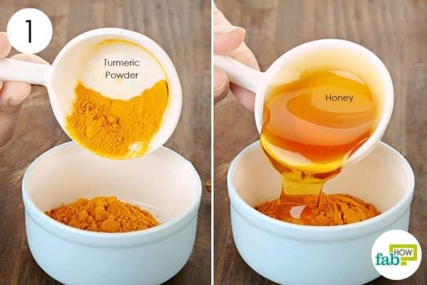 Use turmeric for beauty and honey