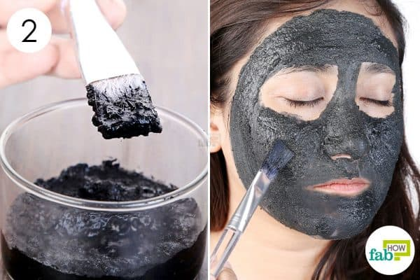 Mix well and use as face mask to use activated charcoal for beauty