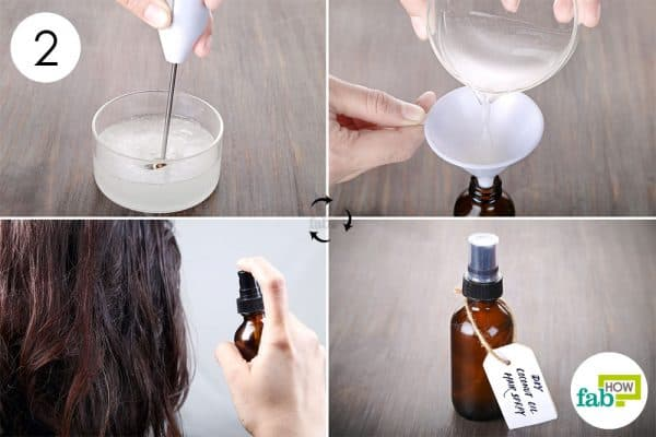 Blend thoroughly and transfer to a spray bottle to make DIY hairspray