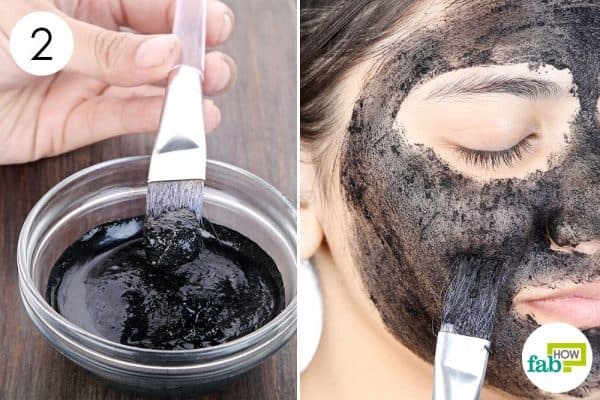 Mix well and apply to use activated charcoal for beauty