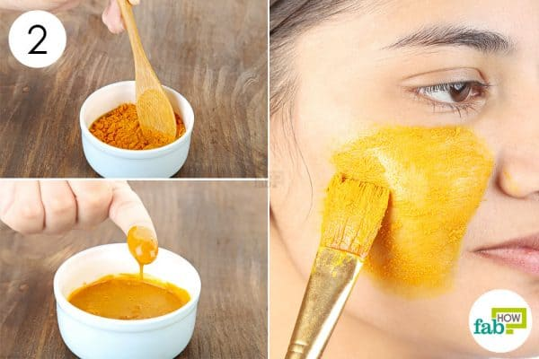 Blend well and apply to use turmeric for beauty