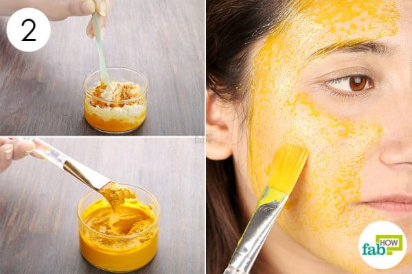 Blend properly and apply to use turmeric for beauty