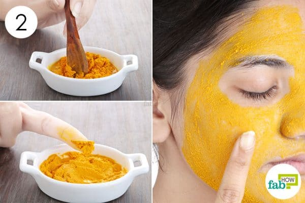 Mix well and apply to use turmeric for beauty
