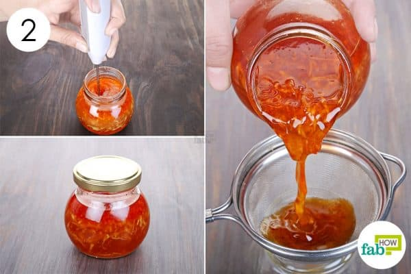 Blend thoroughly and let the ingredients infuse together to make homemade cough syrup