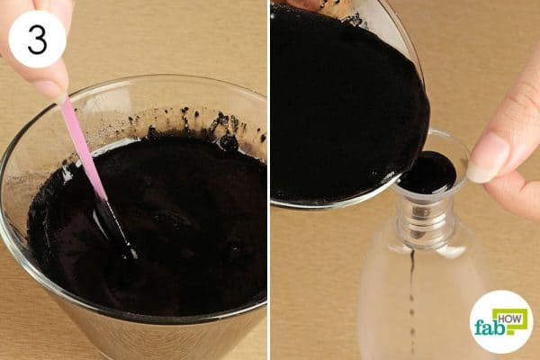 Blend thoroughly and transfer into a bottle for storage to use activated charcoal for beauty