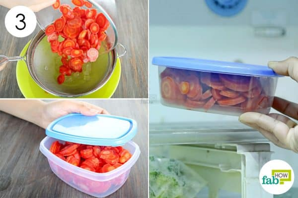 strain once again and freeze to store carrots