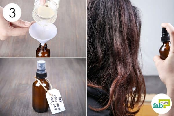 Funnel into a dark-colored bottle and use as DIY hairspray