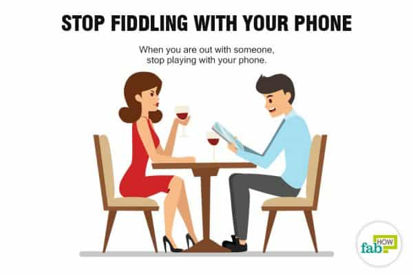 Stop fiddling with your phone to stop being annoying