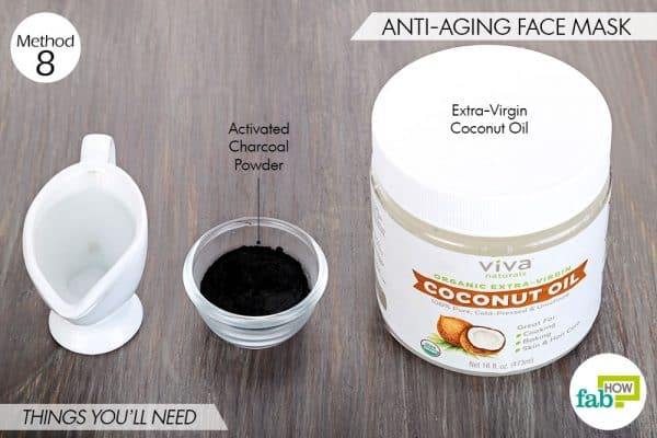 Things needed to use activated charcoal for beauty-to make anti-aging face mask