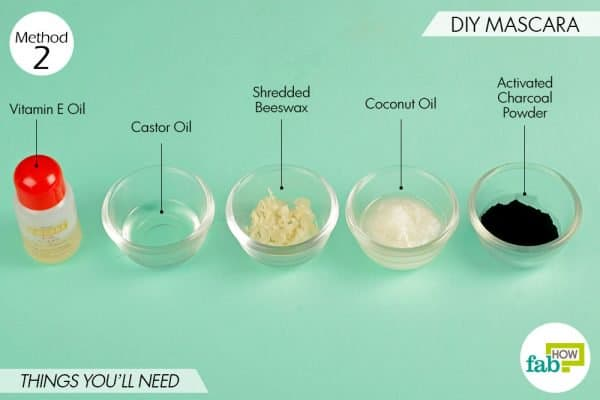 Things needed to use activated charcoal for beauty-DIY mascara