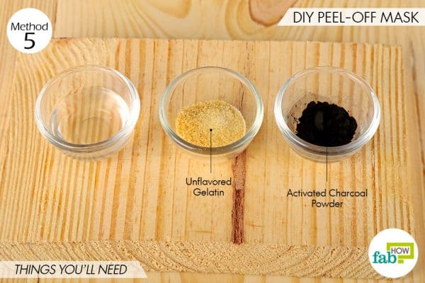 Things needed to use activated charcoal for beauty-to make DIY peel-off mask
