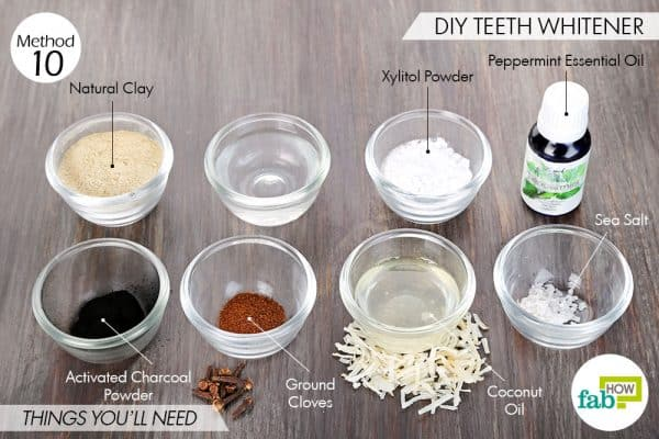 Things needed to use activated charcoal for beauty-DIY teeth whitener