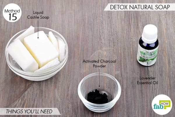 Things needed to use activated charcoal for beauty-to make detox natural soap