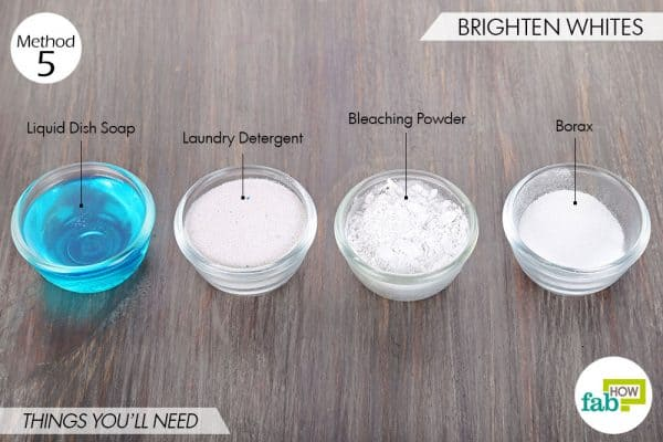 Things needed to use borax for cleaning to brighten whites