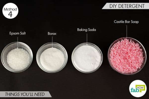 Things needed to use borax for cleaning to make DIY detergent