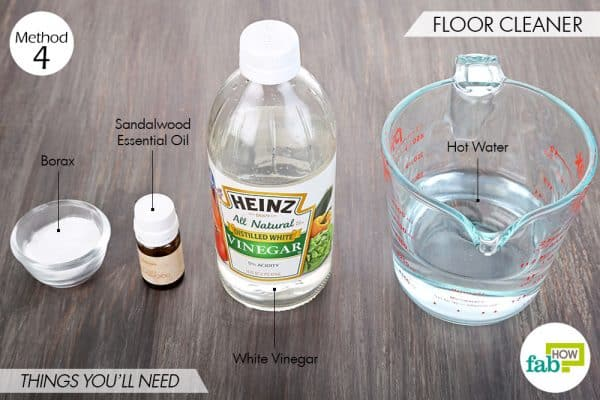 Things needed to use borax for cleaning-to make DIY floor cleaner