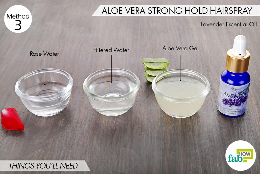 Aloe vera gel (for extra hold) – 2 tablespoons ...