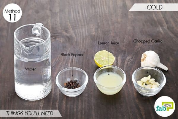 things needed to use garlic for health-cold