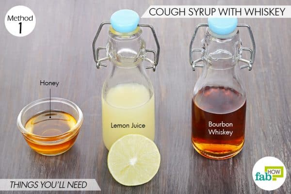 Things needed to make homemade cough syrup with whiskey