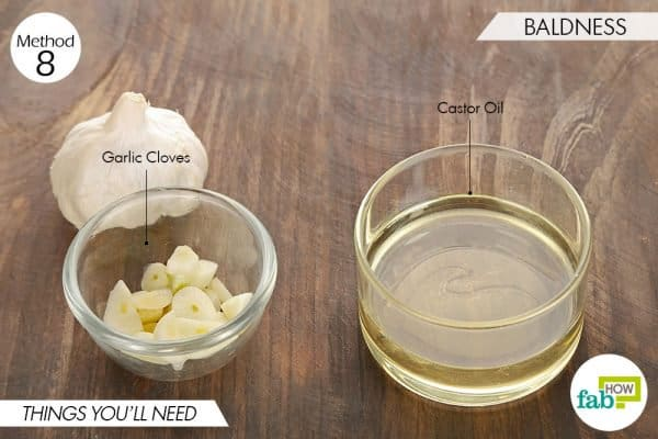 things needed to use garlic for skin and teeth-to treat baldness