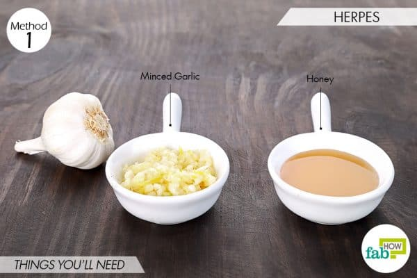 things needed to use garlic for skin and teeth-to treat herpes