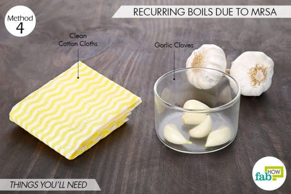 things needed to use garlic for skin and teeth-to treat boils