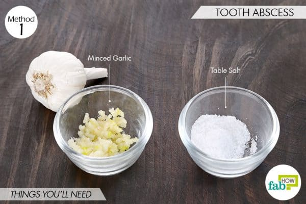 things needed to use garlic for skin and teeth-to treat tooth abscess