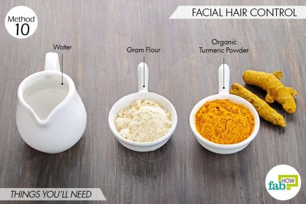 Use turmeric for beauty-for facial hair control